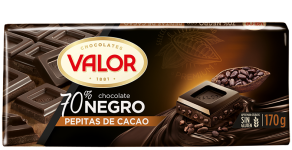 Chocolate 70% con pepitas de cacao