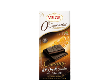 70% Dark Chocolate with Orange Creamy No Sugar Added 100g
