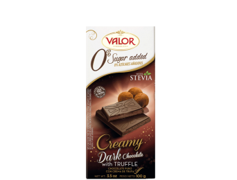 Dark Chocolate with Truffle Creamy No Sugar Added 100g