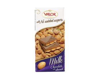 Milk Chocolate with Almonds No Sugar Added 150g