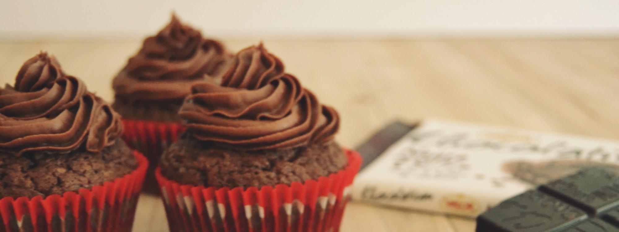 Cupcakes de Chocolate Negro 70% Postres