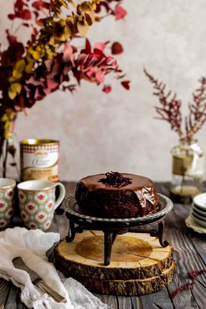 Tarta de chocolate y remolacha (sin harina)