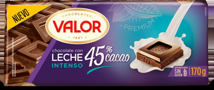 Tableta Chocolate 45% Cacao con Avellanas