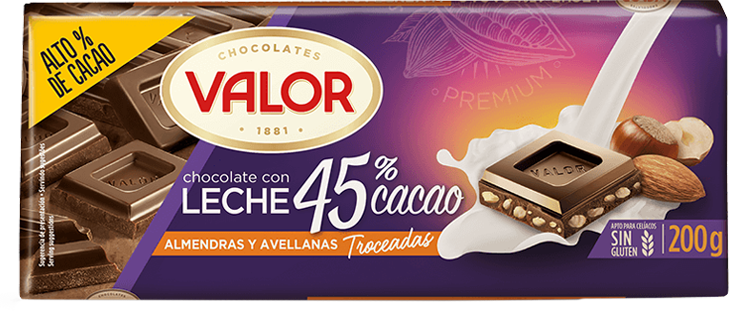 Tableta Chocolate 45% Cacao