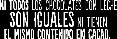 Ni todos los chocolates con leche son iguales ni tienen el mismo contenido en cacao