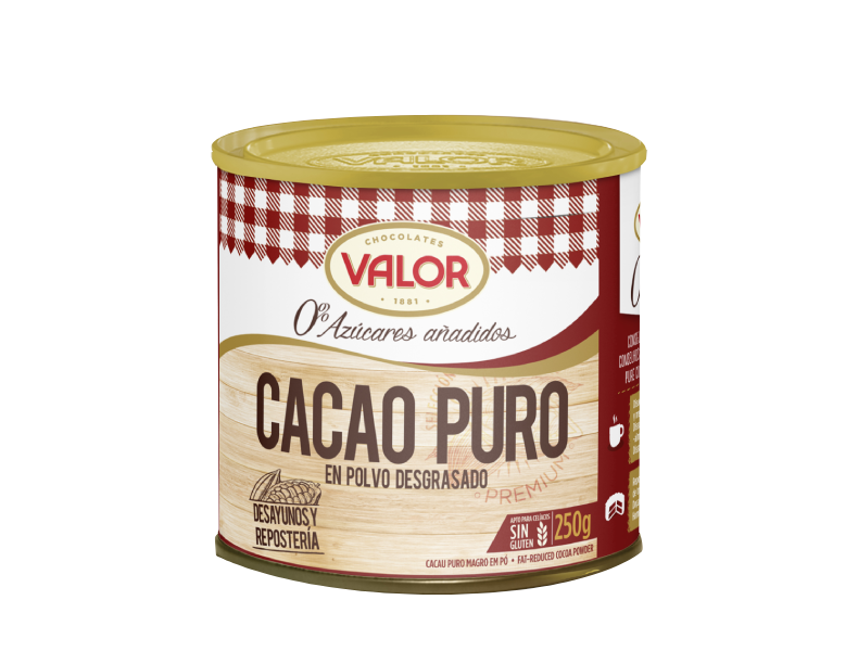 Fat-free pure Cocoa powder and Decorations