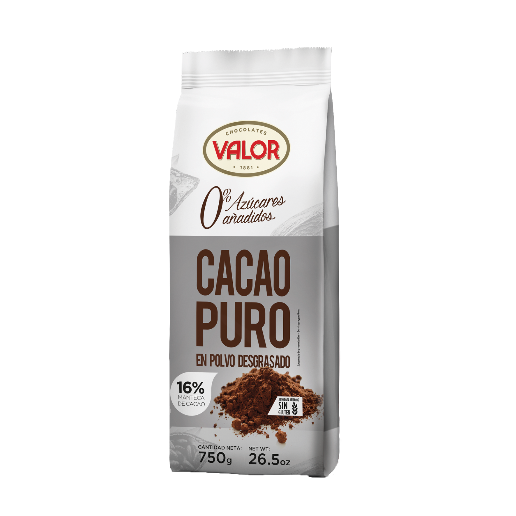 Fat-reduced pure Cocoa powder