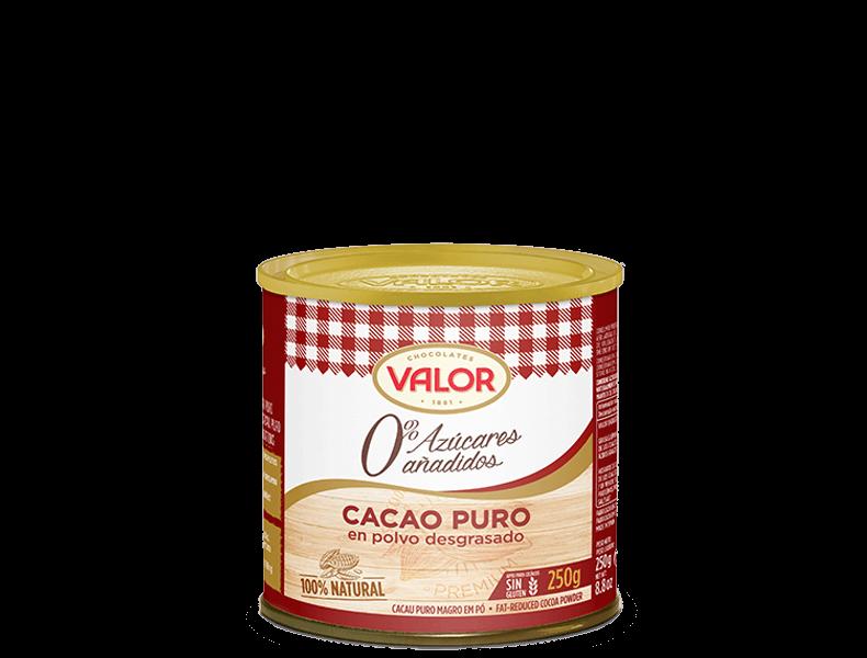 Cacao puro en polvo desgrasado 0% Azúcares añadidos