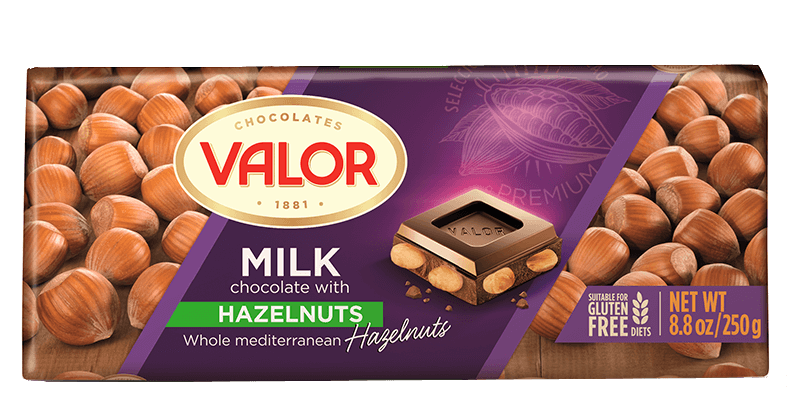 Milk Chocolate with Hazelnuts 250g