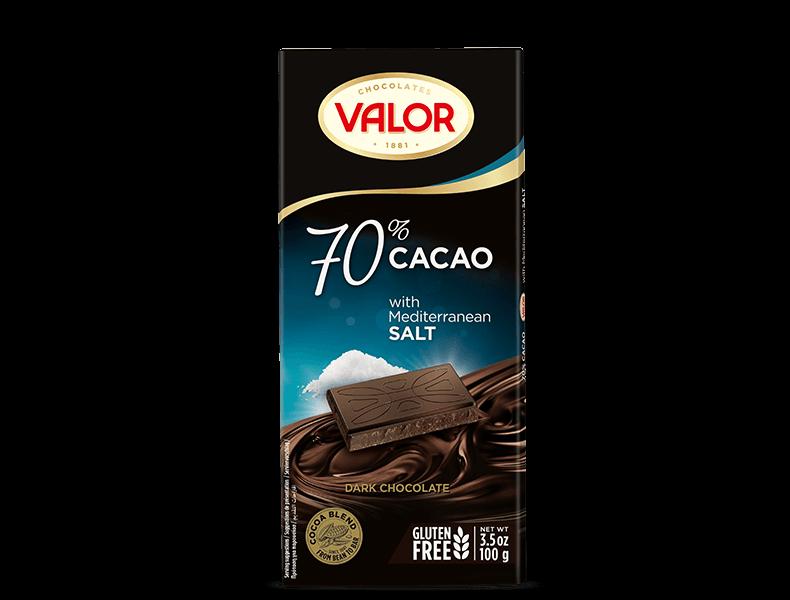 70% Dark Chocolate with Mediterranean Salt 100g