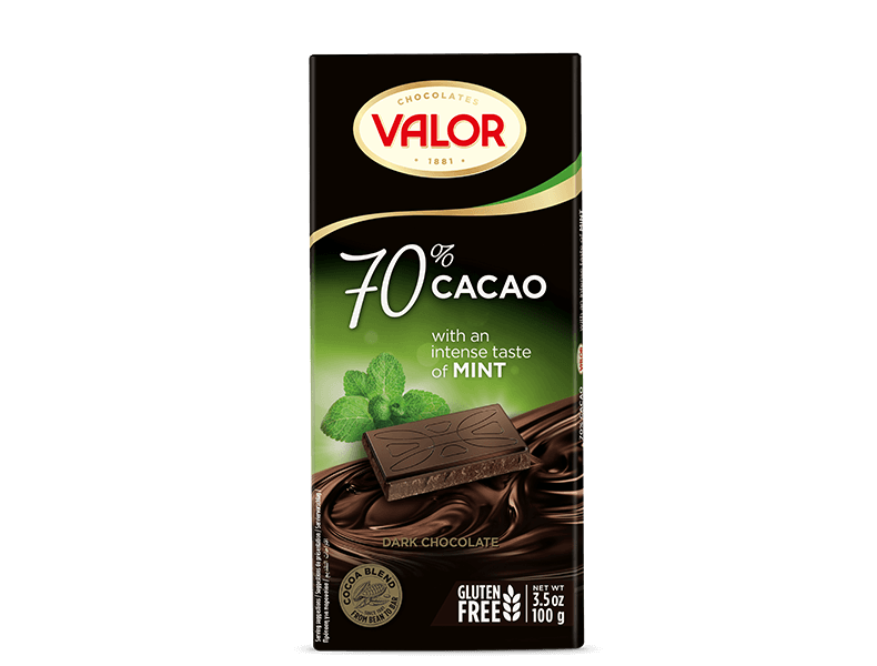 70% Dark Chocolate with Mint 100g