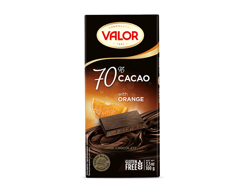 70% Dark chocolate with Orange 100g
