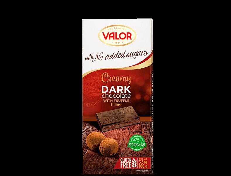 Dark Chocolate with Truffle Creamy No Sugar Added 100g