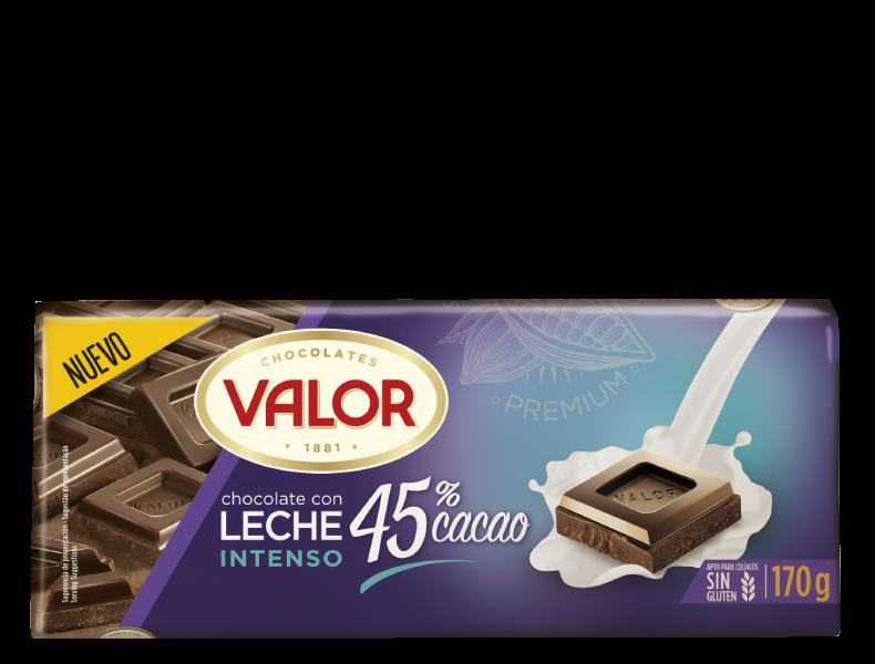 Chocolate con leche 45% cacao