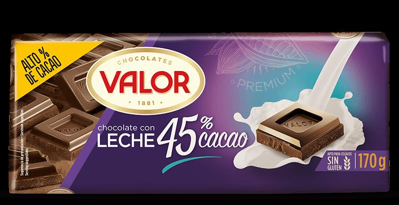 Chocolate con leche 45% de cacao