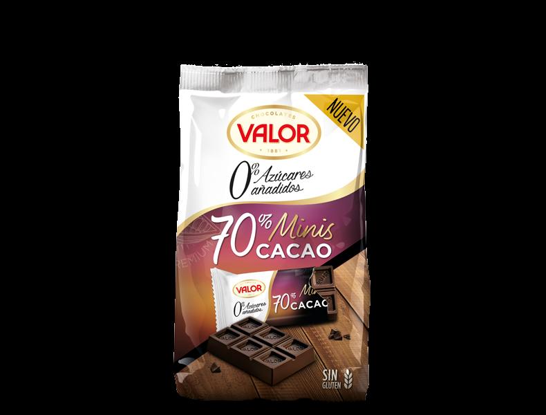 Minitabletas Chocolate negro 70% Sin Azúcar
